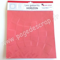 EASY SCRAP GABARIT DUO HORIZON  2 pièces