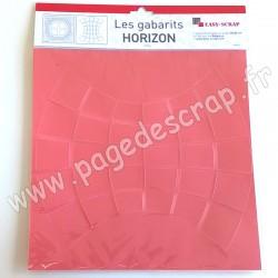 EASY SCRAP GABARIT DUO HORIZON  2 pièces