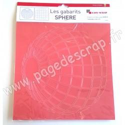 EASY SCRAP GABARIT SPHERE  2 pièces