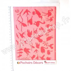 EASY SCRAP GABARIT DECOR OISEAUX