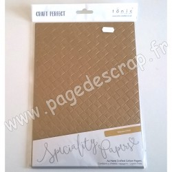 TONIC STUDIOS CRAFT PERFECT PAPIER SPECIAL A4 x5 150g WOVEN HIDE