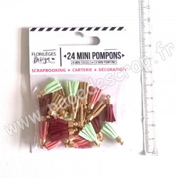 FLORILEGES DESIGN 24  MINI POMPONS GYPSY FOREST