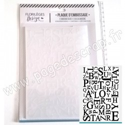 FLORILEGES DESIGN PLAQUE D'EMBOSSAGE MIX DE LETTRES 12.3 cm x 17.5 cm