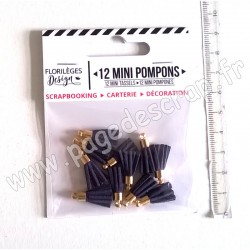 FLORILEGES DESIGN 12 MINI POMPONS OUTREMER