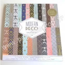DOCRAFTS PAPERMANIA BLOC 50 FEUILLES MODERN DECO 30.5 cm x 30.5 cm 160g