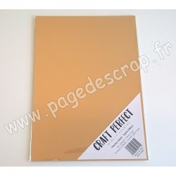 TONIC STUDIOS CRAFT PERFECT MIRROR CARD SATIN A4 x5 250g HONEY GOLD