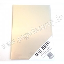 TONIC STUDIOS CRAFT PERFECT MIRROR CARD SATIN A4 x5 250g FROSTED SILVER