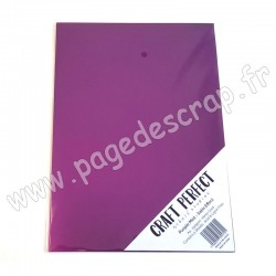 TONIC STUDIOS CRAFT PERFECT MIRROR CARD SATIN A4 x5 250g PURPLE MIST