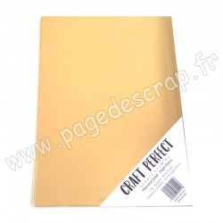 TONIC STUDIOS CRAFT PERFECT MIRROR CARD GLOSSY A4 x5 250g HARVEST GOLD