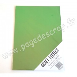 TONIC STUDIOS CRAFT PERFECT MIRROR CARD GLOSSY A4 x5 250g EMERALD GREEN