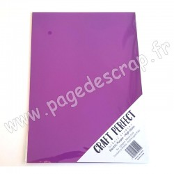 TONIC STUDIOS CRAFT PERFECT MIRROR CARD GLOSSY A4 x5 250g ELECTRIC PURPLE