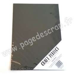TONIC STUDIOS CRAFT PERFECT PEARLESCENT CARD A4 x5 250g ONYX BLACK