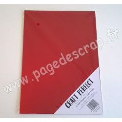 TONIC STUDIOS CRAFT PERFECT MIRROR CARD SATIN A4 x5 250g SCARLET ORGANZA