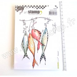 CARABELLE STUDIO CLING STAMP A6 POISSONS BY SOIZIC