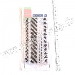 MARIANNE DESIGN TAMPON CLEAR BORDER STARS