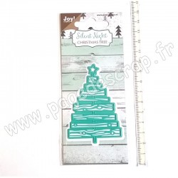 JOY!CRAFTS CUTTING & EMBOSSING DIE SILENT NIGHT CHRISTMAS TREE