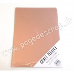 TONIC STUDIOS CRAFT PERFECT MIRROR CARD SATIN A4 x5 250g BURNISHED ROSE
