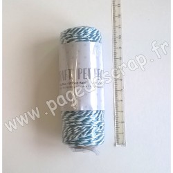 TONIC STUDIOS STRIPED BAKERS TWINE 2 mm x 25 m TEAL BLUE