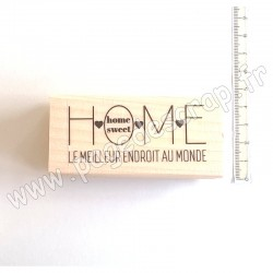 CHOU & FLOWERS COLLECTION ESPRIT HYGGE TAMPON BOIS HOME SWEET HOME