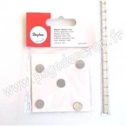 RAYHER AIMANT diamètre 10 mm, épaisseur 1 mm, 10 pièces