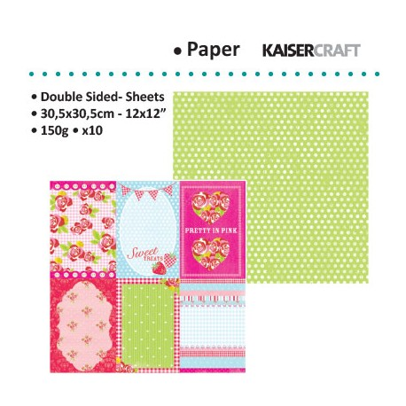 KAISER CRAFT TEA PARTY PEPPERMINT