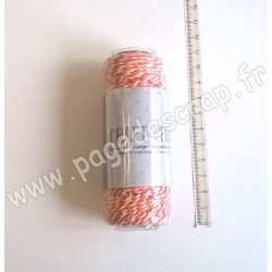 TONIC STUDIOS STRIPED BAKERS TWINE 2 mm x 25 m CLEMANTIN ORANGE