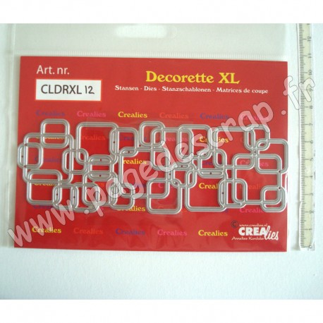 CREALIES DIES DECORETTE XL No 12 INTERLOCKING SQUARES