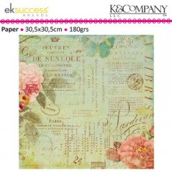 K&COMP SCRIBE TEXT SHIMMER PAPER