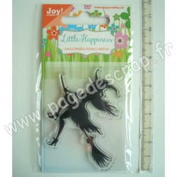 JOY!CRAFTS TAMPON CLEAR HALLOWENN FLYING WITCH