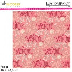 K&COMP CUPID WORDS FLAT PAPER
