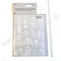 DARICE EMBOSSING TEMPLATE PRESENTS 10,8 cm x 14,6 cm
