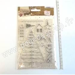 STUDIO LIGHT CLEAR STAMP WINTER DAYS N°313