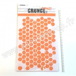 STUDIO LIGHT MASK STENCIL A5 GRUNGE COLLECTION NR°12