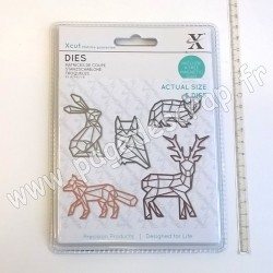 DOCRAFTS MATRICES DE COUPE GEOMETRIC WOODLAND ANIMALS 5 pièces