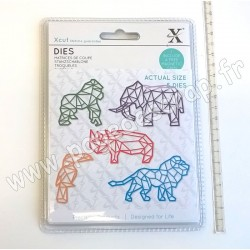 DOCRAFTS MATRICES DE COUPE GEOMETRIC TROPICAL ANIMALS 5 pièces