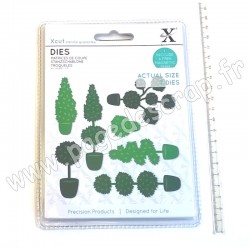 DOCRAFTS MATRICES DE COUPE TOPIARY SET  7 pièces