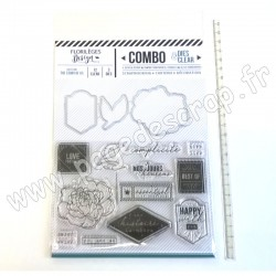 FLORILEGES DESIGN COMBO CLEAR DIES HAPPY WITH YOU