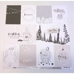 LES ATELIERS DE KARINE CARTE BLANCHE LET IT SNOW 30.5 cm x 30.5 cm