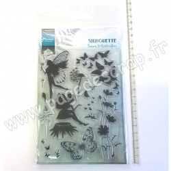 MARIANNE DESIGN TAMPON CLEAR SILHOUETTE FAIRIES & BUTTERFLIES