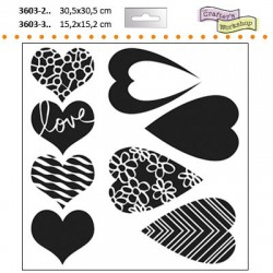 15X15 MIX&MARCH HEARTS