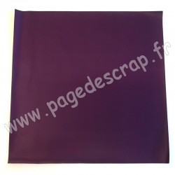 ARTEMIO FEUILLE SIMILI CUIR 30 cm x 30 cm 0,7 mm JAPAN MAUVE