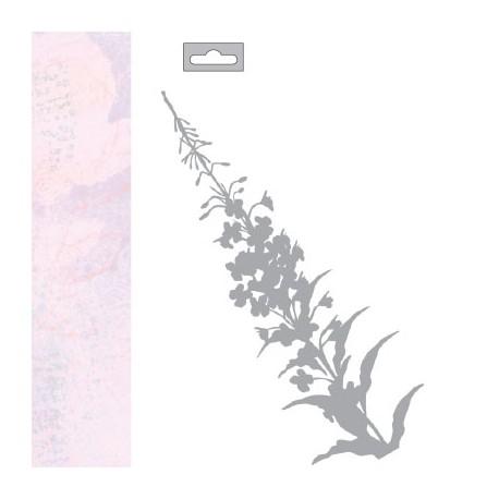 MASK STENCIL A5 PINK FLOWER