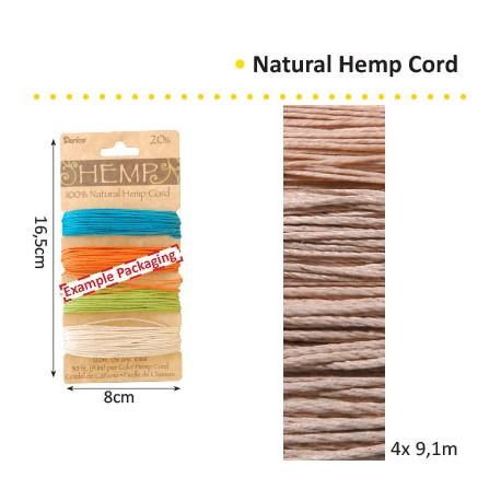 HEMP CORD 1.33MMX9.1MX4 ASS. VERIGATED