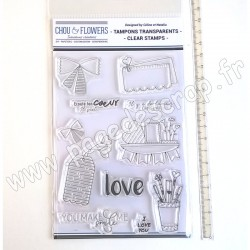 CHOU & FLOWERS COLLECTION MON PETIT MOT TAMPONS CLEAR LOVE 1
