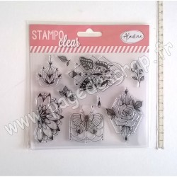ALADINE STAMPO CLEAR PIVOINE / PAPILLONS
