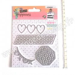STUDIO LIGHT EMBOSSING DIE CREATE HAPPINESS N°158