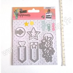 STUDIO LIGHT EMBOSSING DIE CREATE HAPPINESS N°155