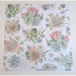 KAISERCRAFT GREENHOUSE COLLECTION SUCCULENTS 30.5 cm x 30.5 cm