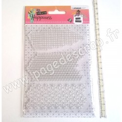 STUDIO LIGHT CLEAR STAMP CREATE HAPPINESS N°349