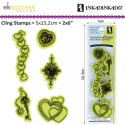 INKADINKADO CLING STAMP JEWELRY AND HEARTS